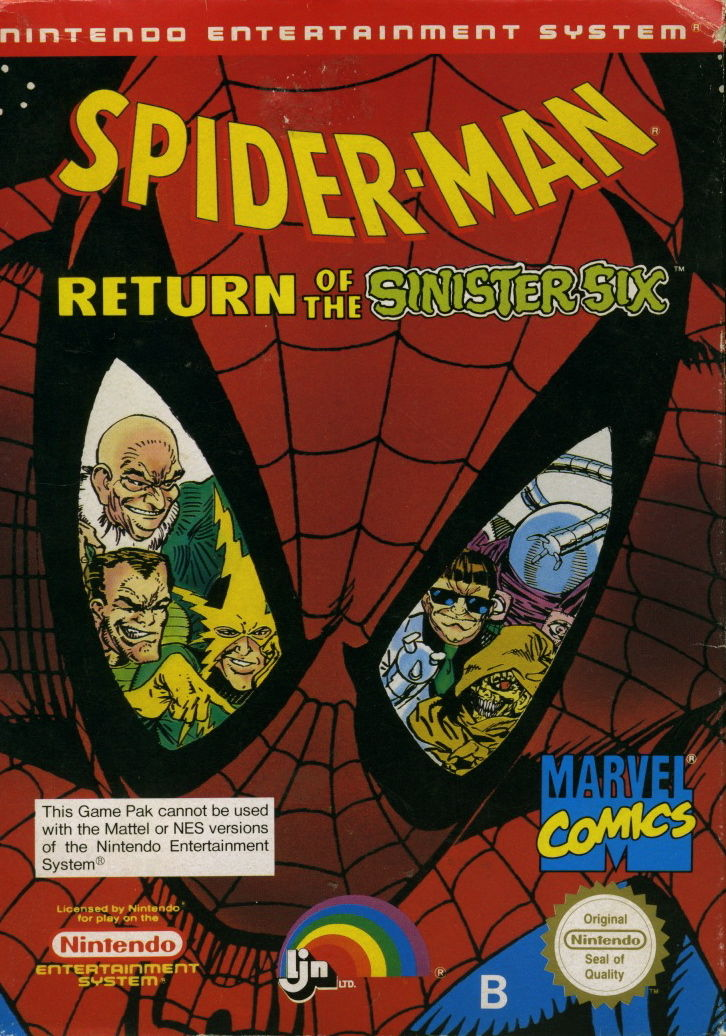Spider-Man_Return_of_the_Sinister_Six_cover - Spider-Man: Return of the Sinister Six [NES][MF] - Juegos [Descarga]